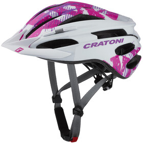 Cratoni Pacer Casco Mtb, white/pink gloss